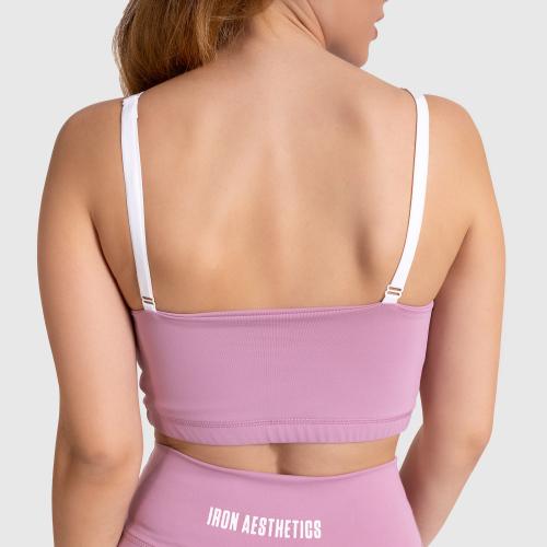 Női sportmelltartó Stripes - Iron Aesthetics, lilac