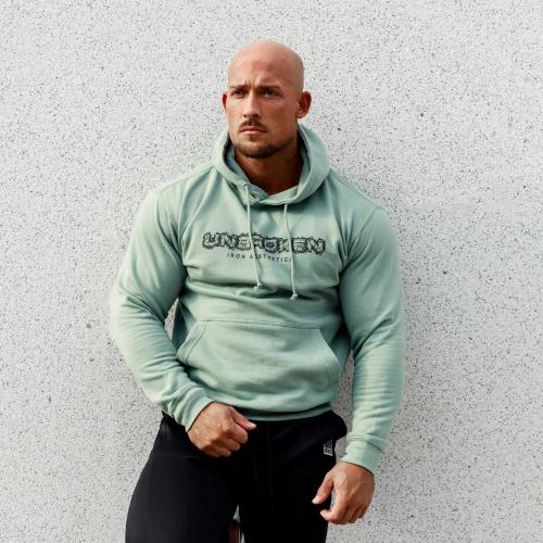 Fitness pulóver cipzár nélküli Iron Aesthetics Unbroken, dusty green