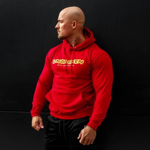 Fitness pulóver cipzár nélküli Iron Aesthetics Unbroken, piros