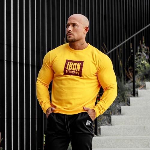Pulóver kapucni nélkül Iron Aesthetics Boxed, sárga