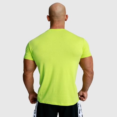 Férfi fitness póló Iron Aesthetics Unbroken, lime zöld