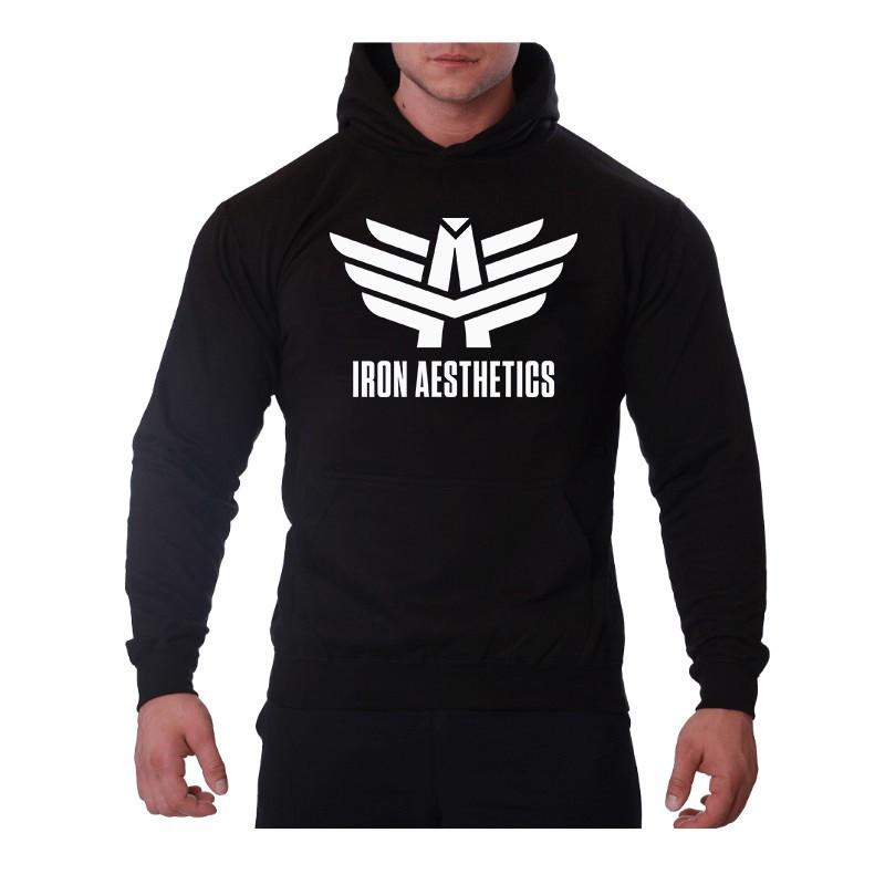 Sportos cipzár nélküli pulóver Iron Aesthetics, fekete-8