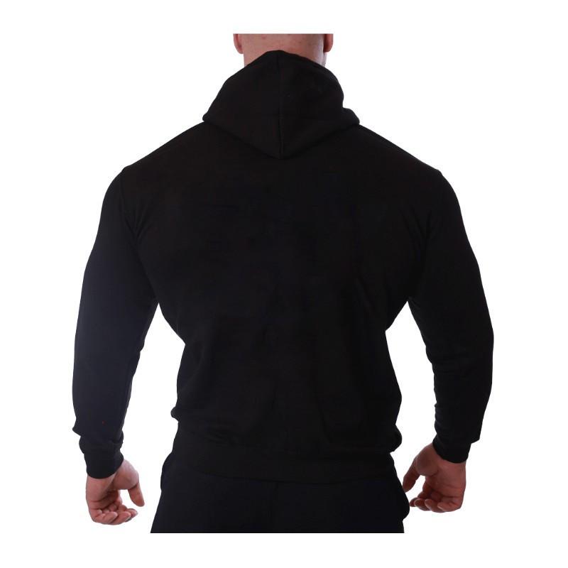 Sportos cipzár nélküli pulóver Iron Aesthetics, fekete-9