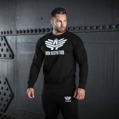 Férfi pulóver Iron Aesthetics, fekete