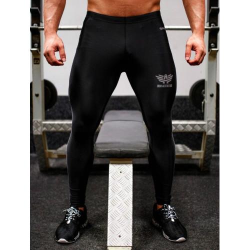 Férfi leggings Iron Aesthetics, fekete