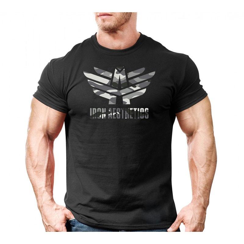 Ultrasoft póló Iron Aesthetics, army fekete-4