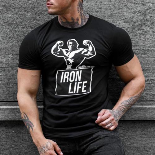 Ultrasoft póló Iron Life, fekete