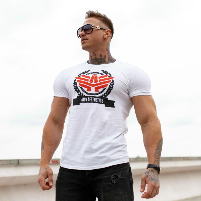 Férfi fitness póló Iron Aesthetics Triumph, fehér-5