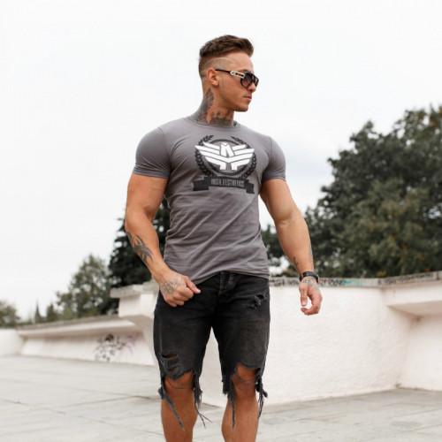 Férfi fitness póló Iron Aesthetics Triumph, szürke