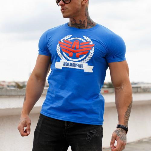 Férfi fitness póló Iron Aesthetics Triumph, kék