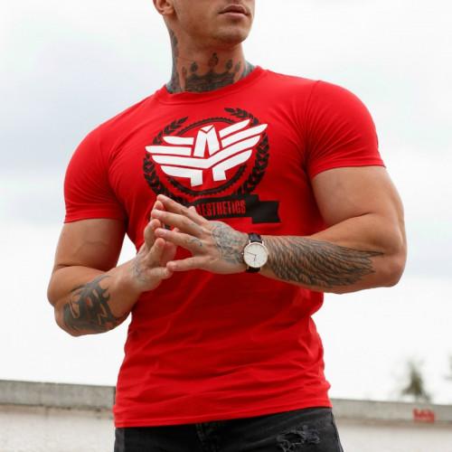 Férfi fitness póló Iron Aesthetics Triumph, piros