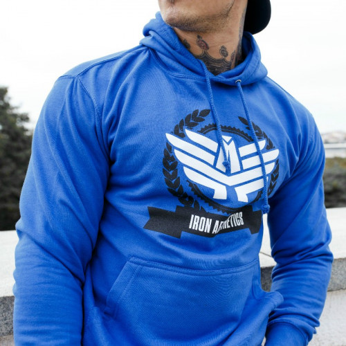 Fitness pulóver Iron Aesthetics Triumph, kék