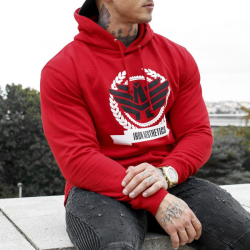 Fitness pulóver Iron Aesthetics Triumph, piros