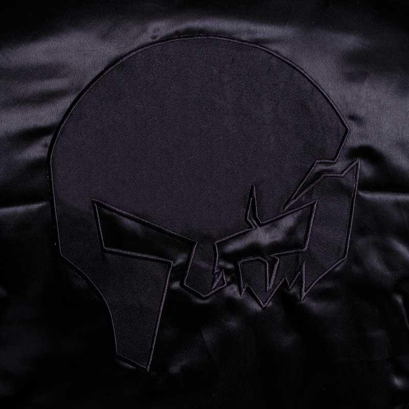 Bomber dzseki Aesthetics Skull, black on black