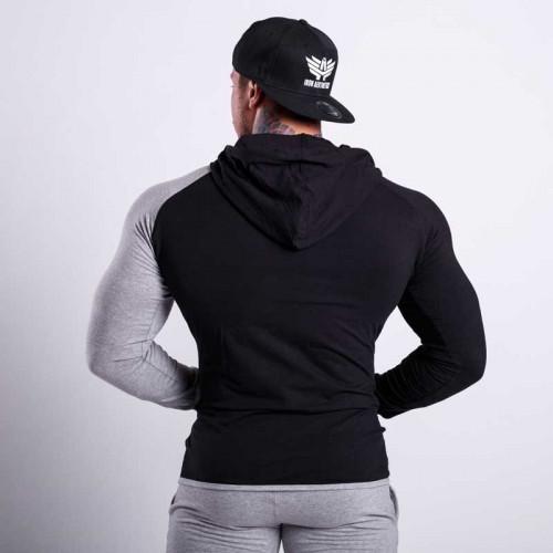 Fitness pulóver Iron Aesthetics Triumph SLEEVE, fekete