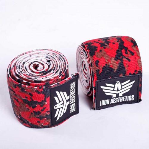 Térdbandázs Iron Aesthetics, piros