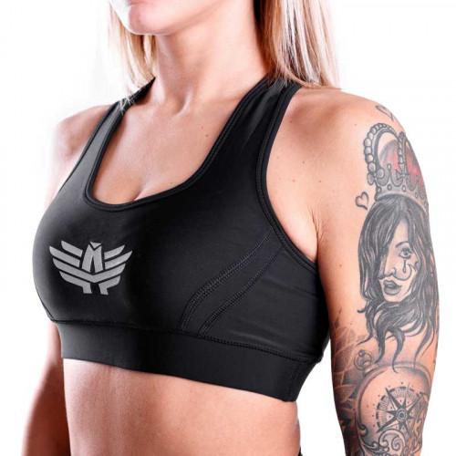 Női sportmelltartó - Iron Aesthetics, fekete