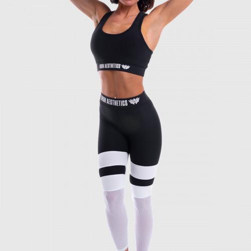 Női leggings NET Stripes - Iron Aesthetics, B&W