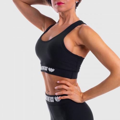 Női sportmelltartó STUFFED - Iron Aesthetics, fekete