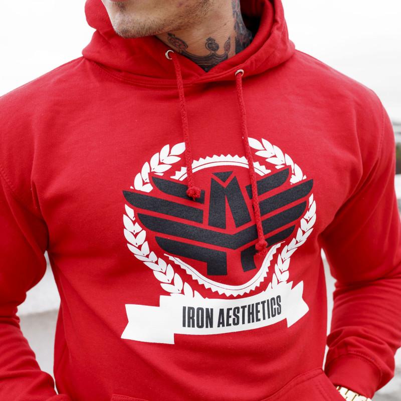 Fitness pulóver cipzár nélkül Iron Aesthetics Triumph, piros-4