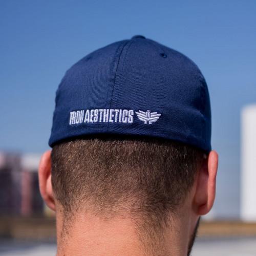 Férfi siltes sapka Iron Aesthetics FlexFit, kék