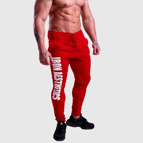 Jogger melegítőnadrág Iron Aesthetics Vertical, piros