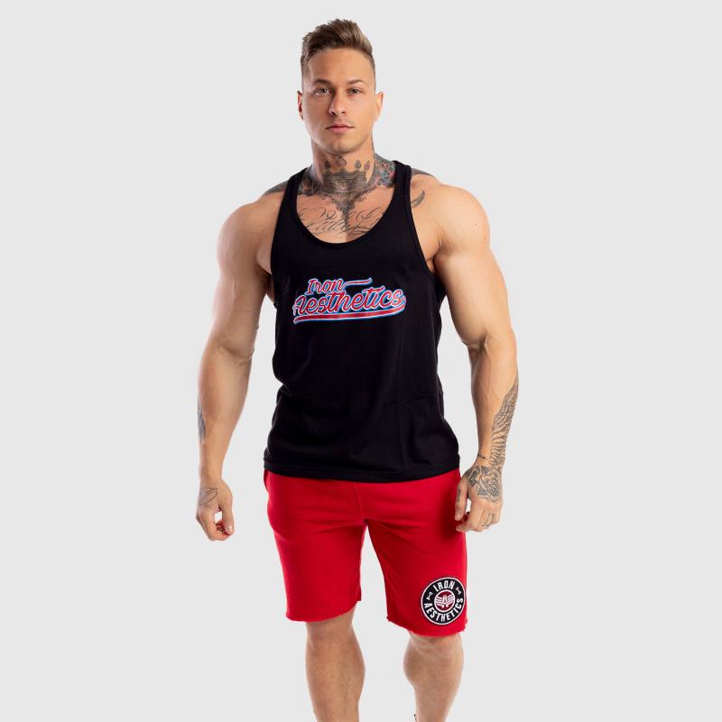 Ujjatlan férfi fitness póló Iron Aesthetics Baseball, fekete-5