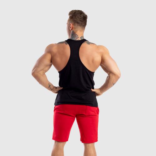 Ujjatlan férfi fitness póló Iron Aesthetics Baseball, fekete
