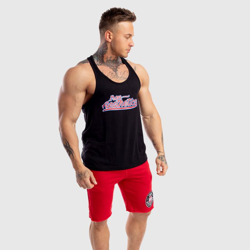Ujjatlan férfi fitness póló Iron Aesthetics Baseball, fekete-4
