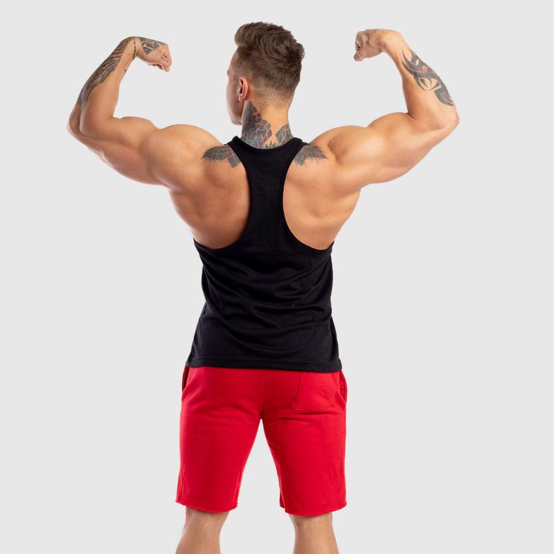 Ujjatlan férfi fitness póló Iron Aesthetics Baseball, fekete-6