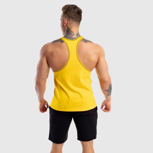 Ujjatlan férfi fitness póló Iron Aesthetics Baseball, sárga