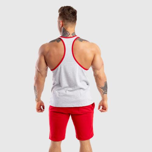 Ujjatlan férfi fitness póló Iron Aesthetics Baseball, szürke