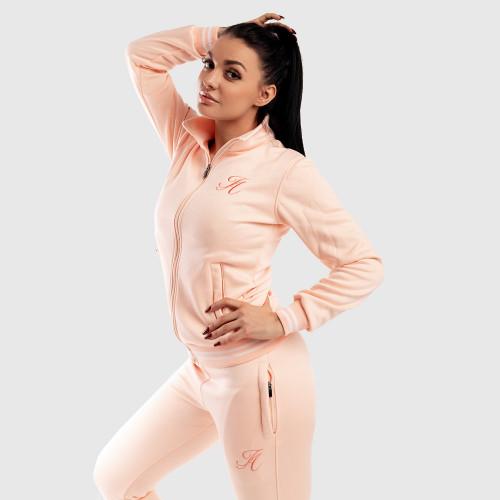 Női fitness cipzáros pulcsi Iron Aesthetics, rózsaszín