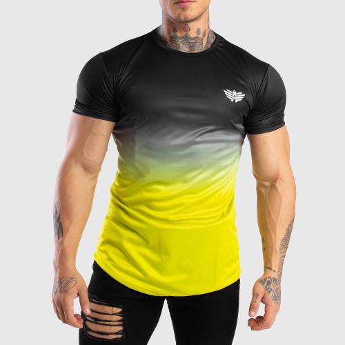 Férfi Iron Aesthetics funkciós póló FADED, fekete-zöld