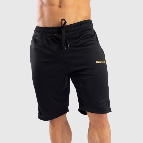 Funkciós rövidnadrág Iron Aesthetics STRIPES, fekete - arany