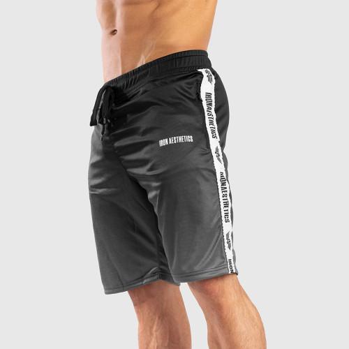 Funkciós rövidnadrág Iron Aesthetics STRIPES FADED, fekete