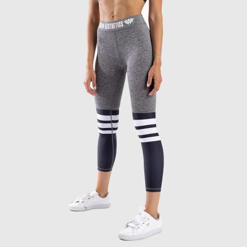 Női leggings Stripes - Iron Aesthetics, fekete