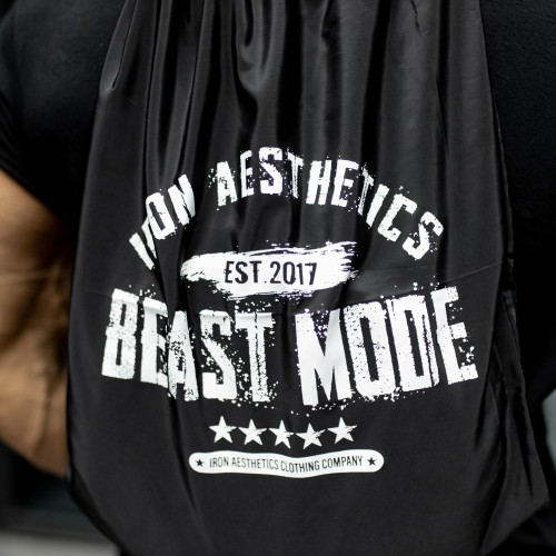 Zsinóros hátizsák Iron Aesthetics BEAST MODE est. 2017, fekete