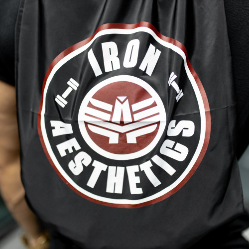 Zsinóros hátizsák Iron Aesthetics CIRCLE, fekete