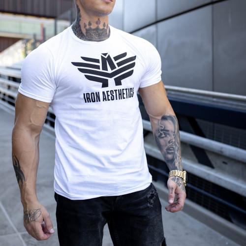 Ultrasoft póló Iron Aesthetics W&B, fehér