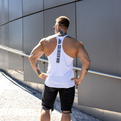 Funkciós ujjatlan póló Iron Aesthetics, fehér