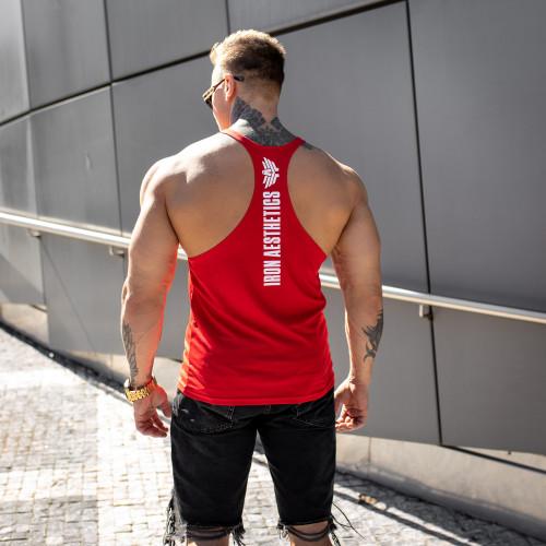 Funkciós ujjatlan póló Iron Aesthetics, piros
