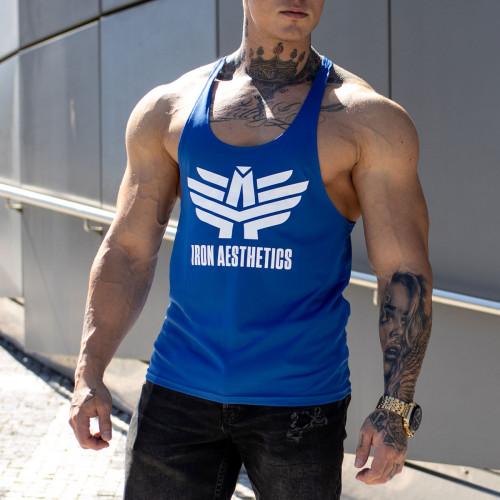 Funkciós ujjatlan póló Iron Aesthetics, kék