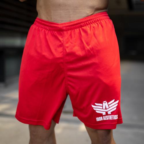 Férfi rövidnadrág Iron Aesthetics Classic, piros