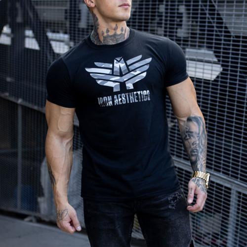Ultrasoft póló Iron Aesthetics, army fekete