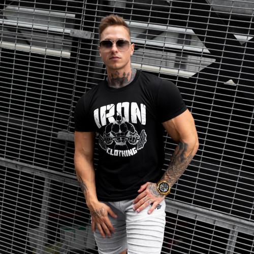 UltraSoft póló IRON MAN, fekete