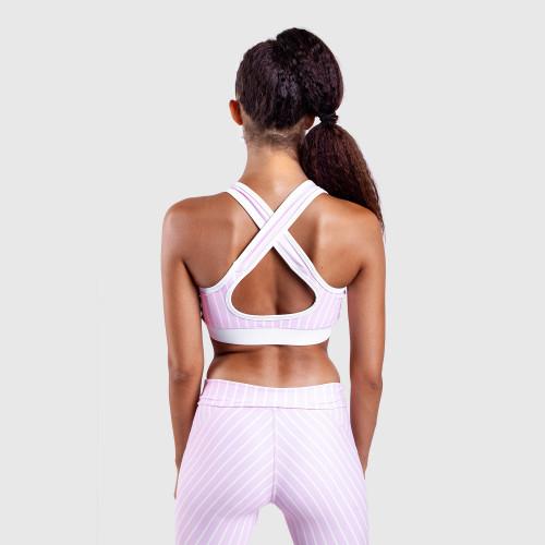 Női sportmelltartó - Iron Aesthetics VERTICAL, rózsazsín