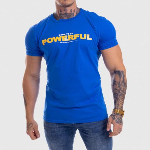 Ultrasoft póló Iron Aesthetics Powerful, kék