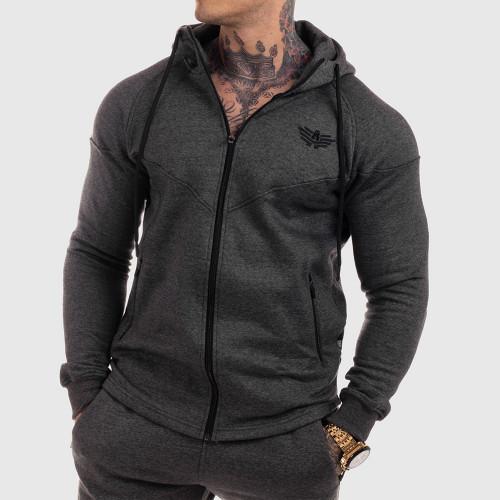 Cipzáros fitness pulóver Iron Aesthetics Round, szürke