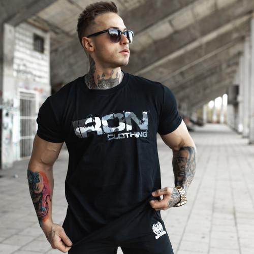 UltraSoft póló Iron Camo Style, fekete